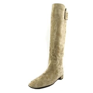 Roger Vivier Bottie Polly Rubber B Leath T.20 Suede Knee High Boot