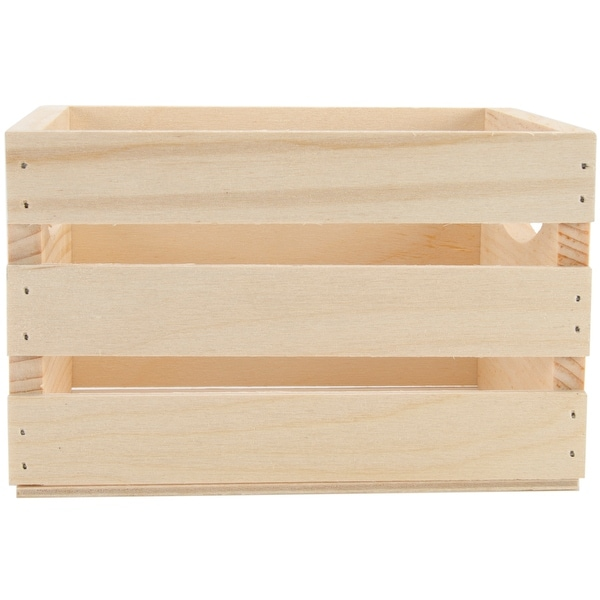 Walnut Hollow Mini Wooden Crate Whandles