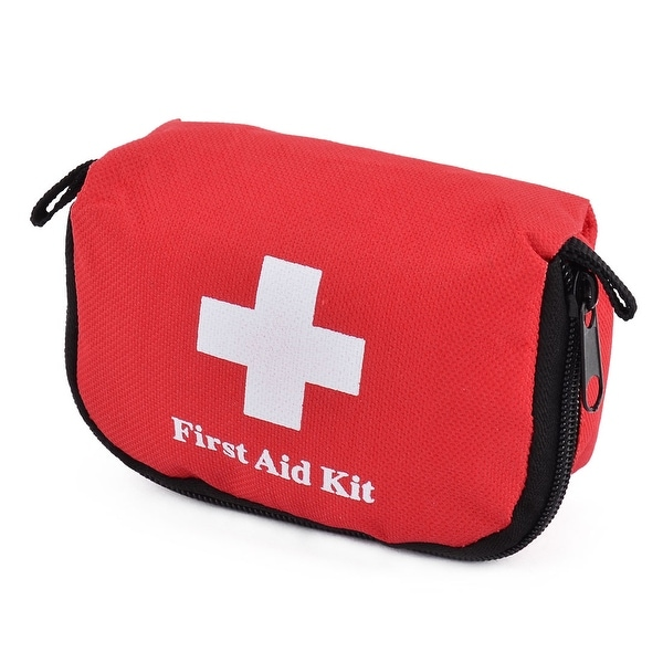 Outdoor Sports Oxford Cloth Emergency First Responder Aid Rescue Storage Bag Red