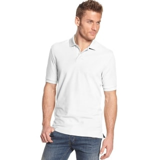 Club Room Big and Tall Estate Performance Polo Shirt Bright White Solid