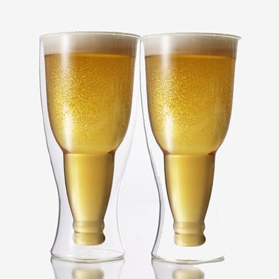 Hopside Down Beer Glasses Set of 2