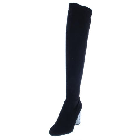 Carlos by Carlos Santana Womens Quantum Knee-High Boots Night Out Round Toe