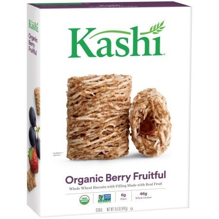 Kashi Whole Wheat Biscuits Cereal - Berry Fruitful - Case of 12 - 15.6 oz.