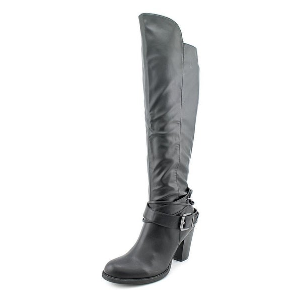 Pink & Pepper Author Women  Round Toe Synthetic Black Knee High Boot