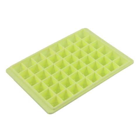 Unique BargainsHousehold Plastic Jelly Chocolate Pudding 48 Slots Ice Cube Trays Light Green