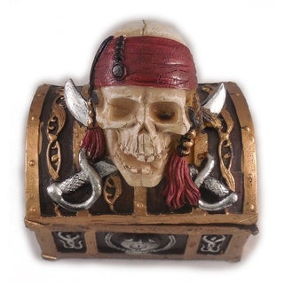"Sea Creations Pirate Skull Jewelry Box 4"" Brown"