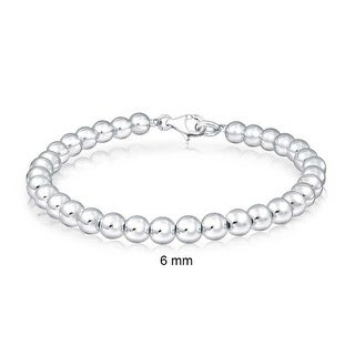 Bling Jewelry 925 Sterling Silver Beaded Ball Wedding Bridal Bracelet 6mm