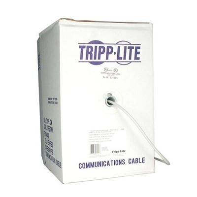Tripp Lite Cat6 Bulk Solid-Core Cable, Plenum-Rated Pvc (Cmp), Gigabit, Blue, 1000' (N224-01K-Bl)
