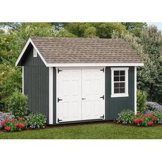 Fairmont 8×12-foot Grey Wood Outdoor Storage Shed