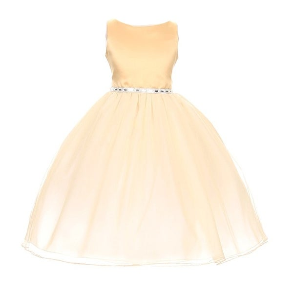 f8097e536 Shop Chic Baby Girls Gold Degrade Overlay Festive Special Occasion Dress -  Free Shipping On Orders Over $45 - Overstock - 18165696