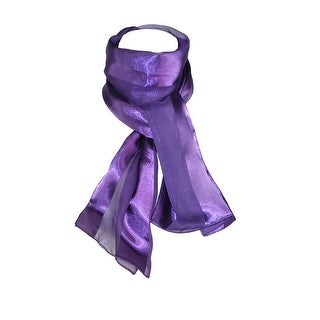 CTM® Women's Long Satin Solid Color Scarves (Pack of 6) - One size