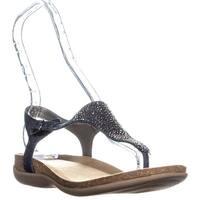 Bandolino Hereby T-Strap Flat Sandals, Dark Blue