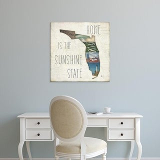 Easy Art Prints Jess Aiken's 'InstaState IV Square' Premium Canvas Art