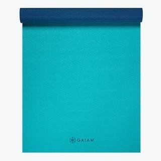 GAIAM Premium 2 Color Yoga Mats (4MM) Open Sea - Blue