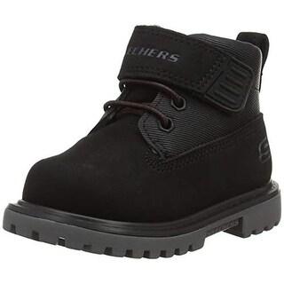 Skechers 93165N Boy's Mecca - Bolders Boots, Black - 8