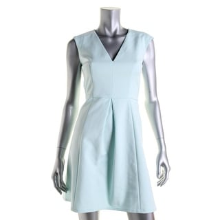 French Connection Womens Pleated Cap Sleeves Party Dress - 10