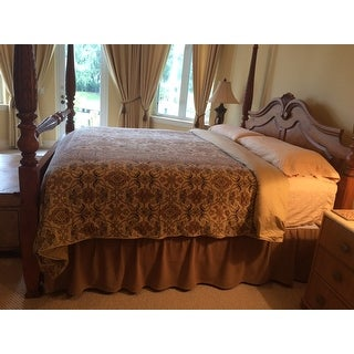 Burlap Natural Ruffled Bed Skirt