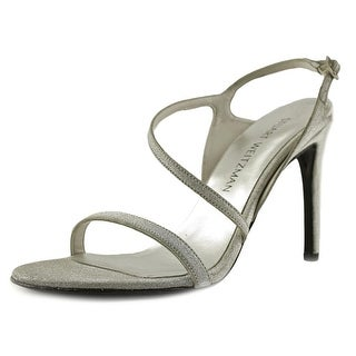 Stuart Weitzman Sensual Women Open Toe Synthetic Silver Sandals