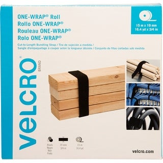 Velcro(R) Brand One-Wrap(R) Roll 19Mmx15m-Black