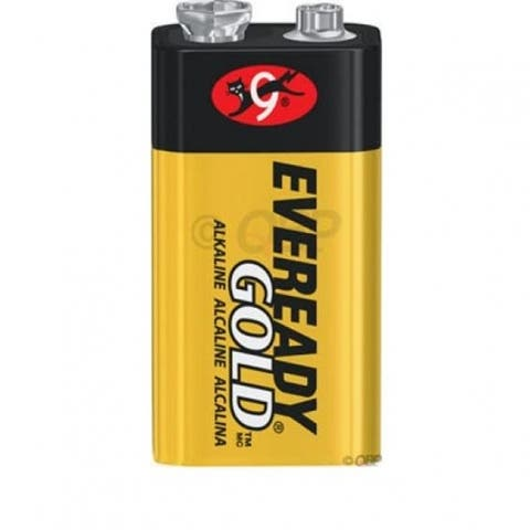 Eveready Gold A522BP Alkaline Battery, 9 Volt