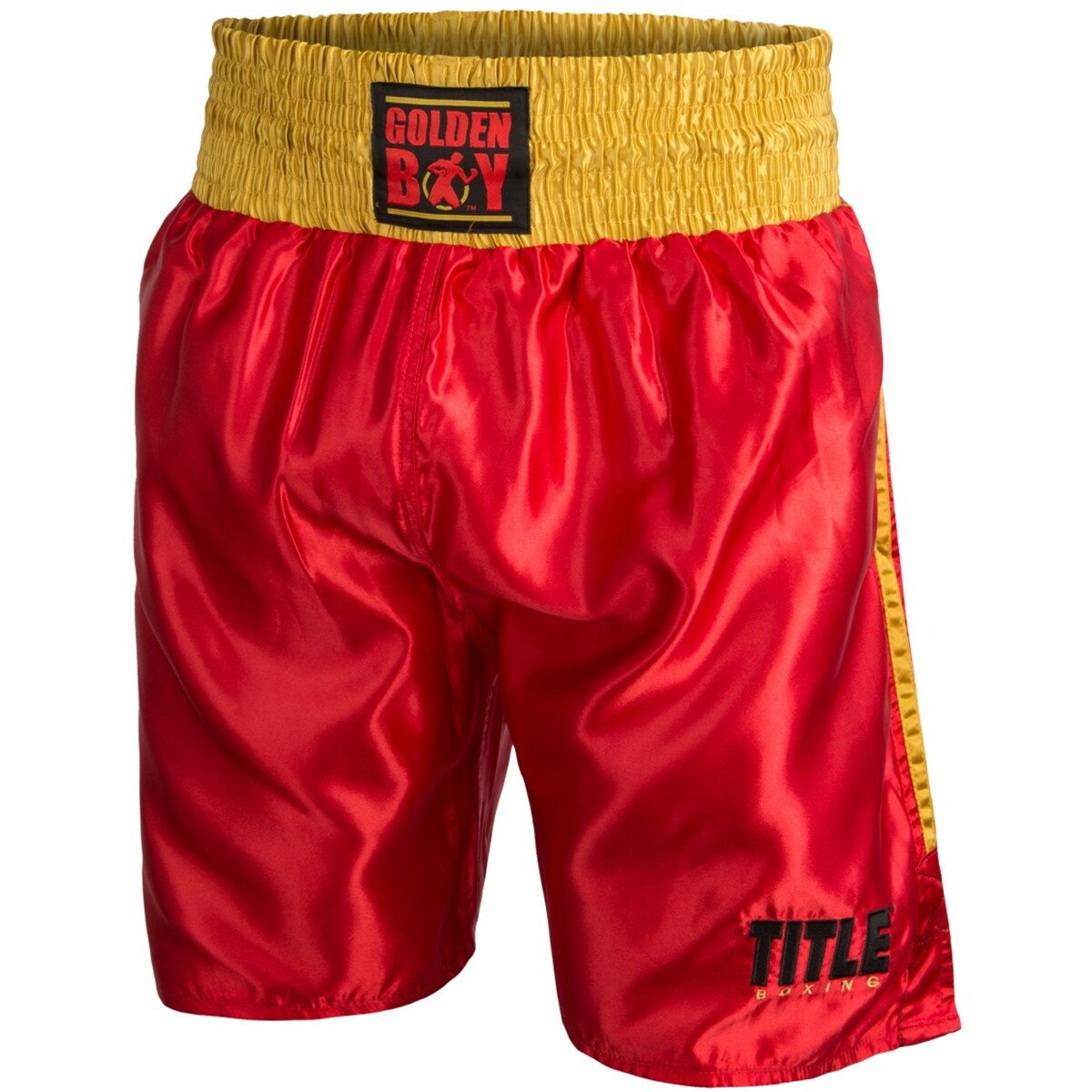 Title Professional Boxing Trunks Black//Red