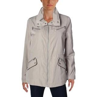 Lauren Ralph Lauren Womens Anorak Jacket Packable Hood Long Sleeves - m