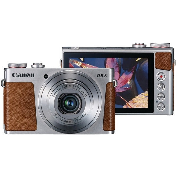 Canon 0924C001 20.0-Megapixel Powershot(R) G9X Digital Camera (Silver)