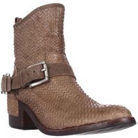 Donald J Pliner Wade Western Ankle Boots, Taupe Cut - 6 us