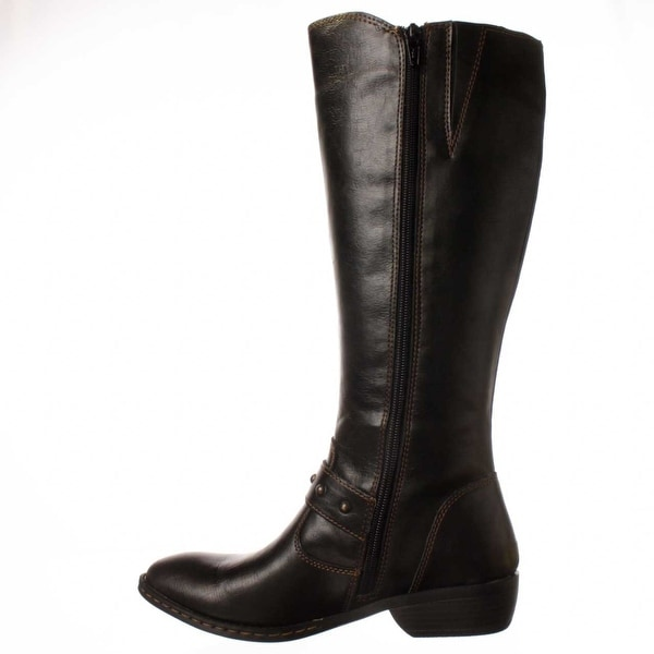 Born Womens Messina Leather Almond Toe Knee High Fashion Boots