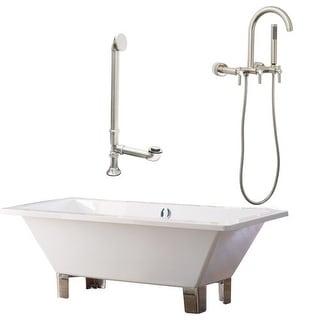 """Giagni LT5 Tella 66"""" Free Standing Soaking Tub Package - Includes Tub, Tub Feet,"""