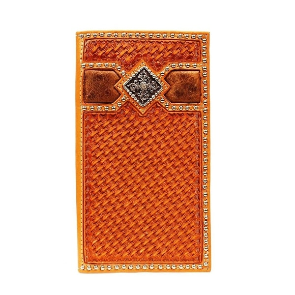 Ariat Western Wallet Mens Rodeo Weave Diamond Natural - One size