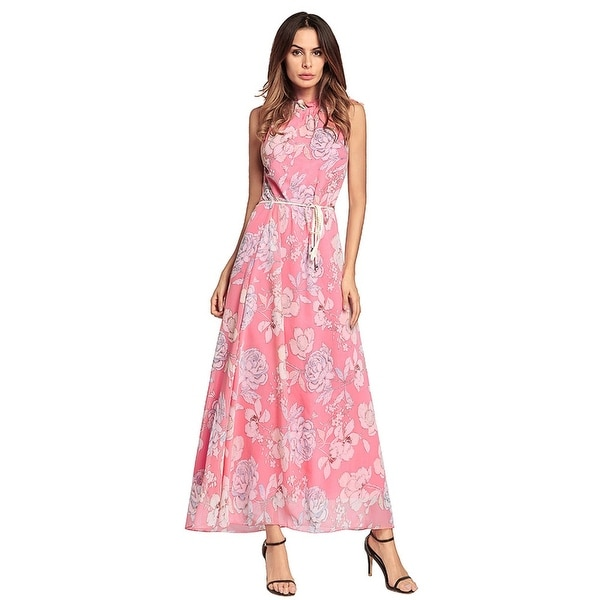 be63109198b2e Shop Boho Printed Chiffon Dress - Free Shipping Today - Overstock ...
