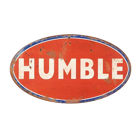 """Red, White & Blue Metal """"Humble"""" Wall Decor - 33.75"""" x 19.5"""""""