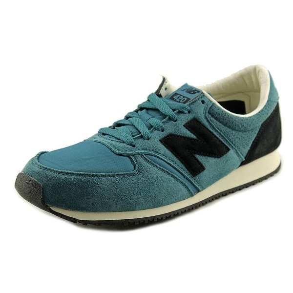 New Balance U420 Men Round Toe Suede Blue Sneakers