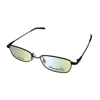 Kenneth Cole New York Brown Modified Metal Rectangle Eyewear Frame KC538 387 - Medium
