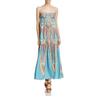 Free People Womens Maxi Dress Printed Pull On