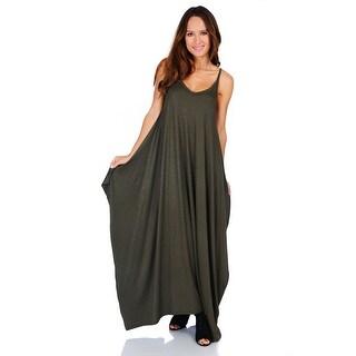 Simply Ravishing Women's Maxi Boho Harem Spaghetti Strap Dress (Size: Small - 3X)