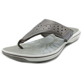 Clarks Brinkley Star Women Open Toe Synthetic Gray Flip Flop Sandal