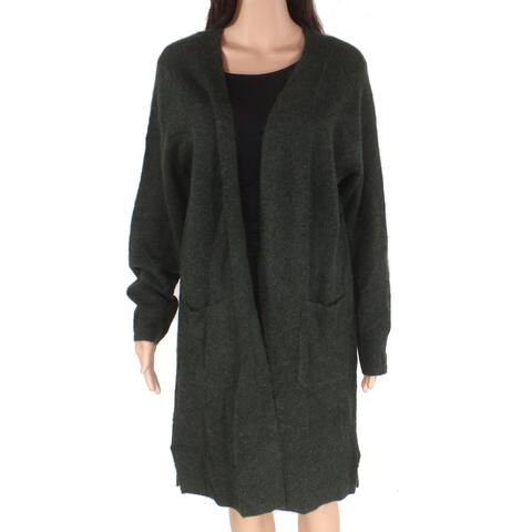 J.Crew Mercantile Womens Sweater Dark Green Size XS Open Front Cardigan