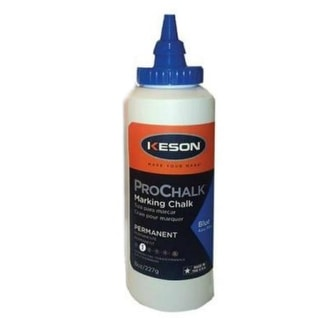 Keson Industries 8B  ProChalk Standard Marking Chalk Refill, 8 Oz, Blue