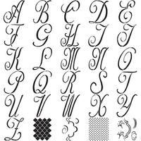 "Folkart Paper Stencil 6""-8""-Script 7"" 30/Pkg"