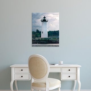 Easy Art Prints Rachel Perry's 'Lighthouse Views IV' Premium Canvas Art