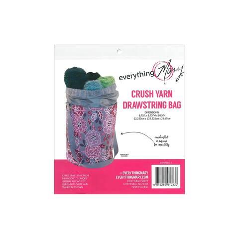 Evm9681-6 everything mary yarn drawstring bag pink floral