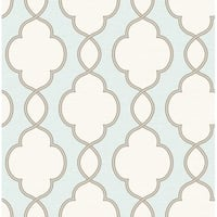 Brewster 2625-21818 Structure Turquoise Chain Link Wallpaper