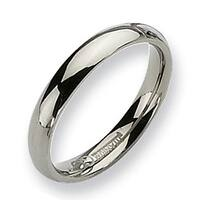 Chisel Rounded Polished Titanium Ring (4.0 mm)