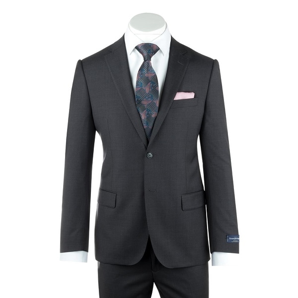Shop Zegna Ermenegildo Cloth Superfine Wool Gray Suit By