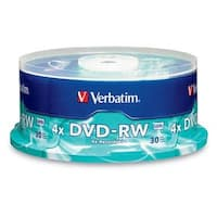 Verbatim 4.7Gb 4X Branded Dvd-Rw (30Pk Spindle) 95179