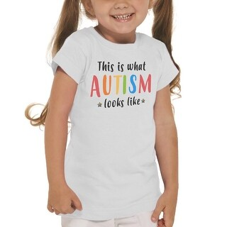 This Is What Autism Look Like Awareness Girl's White T-shirt