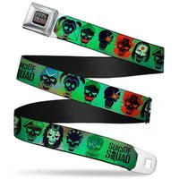 Suicide Squad Logo Full Color Black Red Grays Suicide Squad 10 Stylized Seatbelt Belt