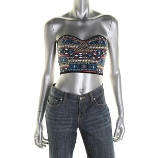Material Girl Womens Juniors Crop Top Printed Strapless|https://ak1.ostkcdn.com/images/products/is/images/direct/1d2c139cfe8978fb6f3b800c994d72ee92489fde/Material-Girl-Womens-Juniors-Printed-Strapless-Crop-Top.jpg?impolicy=medium